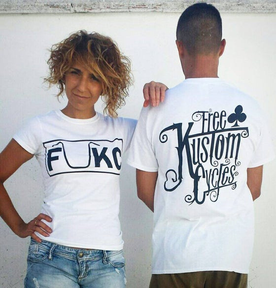 Image of FUKC WHITE T-SHIRT WOMAN