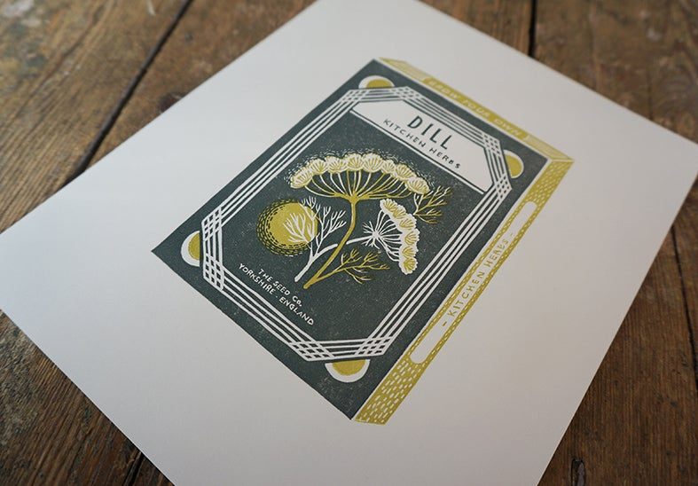 Image of February Print - Dill