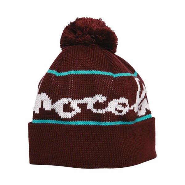 Image of Chocolate Pom Pom Beanie Hat Brown