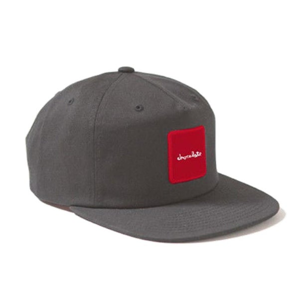 Image of Chocolate Skateboards Red Square Snapback Cap Grey