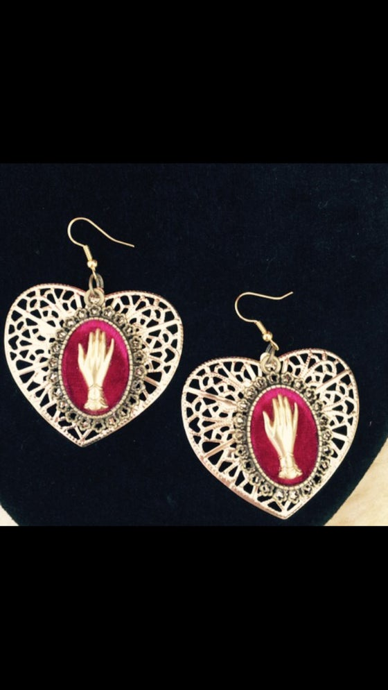 Image of Victorian Mourning Hands earrings