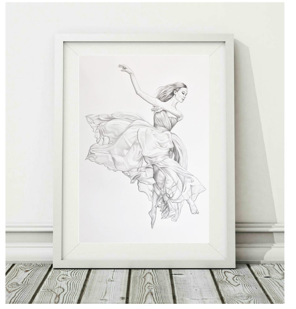Image of The Art of Movement - NYC DANCE PROJECT - Original illustration A3