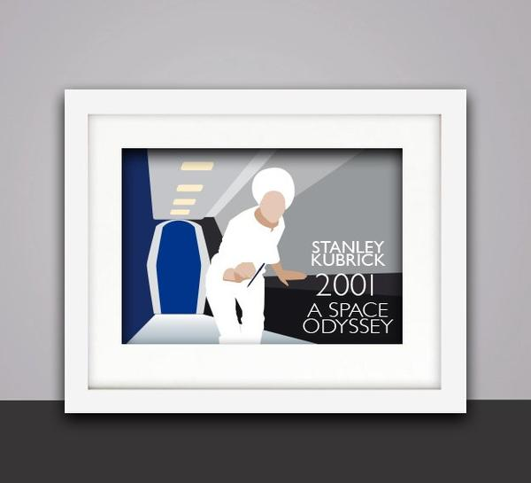 """Image of Tribute to """"2001 A Space Odyssey"""" by Stanley Kubrick - Poster with frame"""