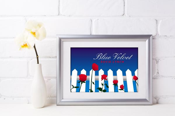 """Image of Tribute to """"Blue Velvet"""" by David Lynch - Postcard with frame"""