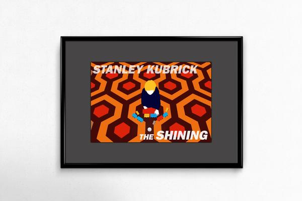 """Image of Tribute to """"The Shining"""" by Stanley Kubrick - Postcard with frame"""