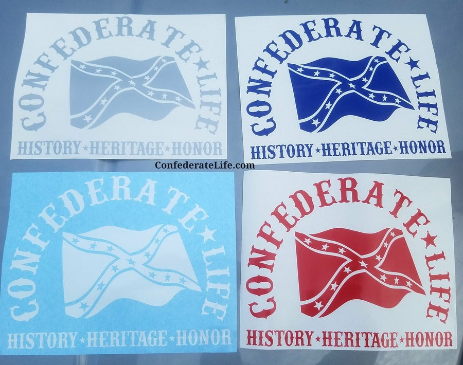 Image of Confederate Life Decal Flag