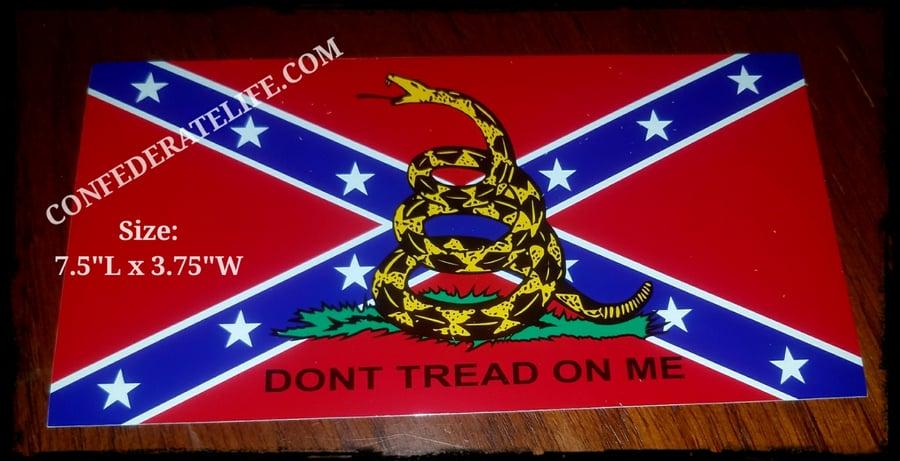 Image of Don't Tread On Me Rebel Gadsden Flag Sticker