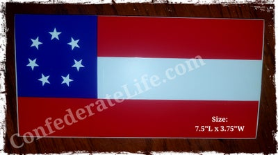 Image of 1st National, Confederate Flag Bumper Sticker.