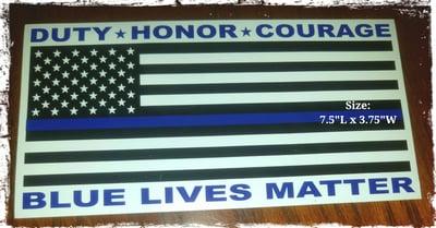Image of Thin Blue Line / Blue Lives Matter Bumper Sticker
