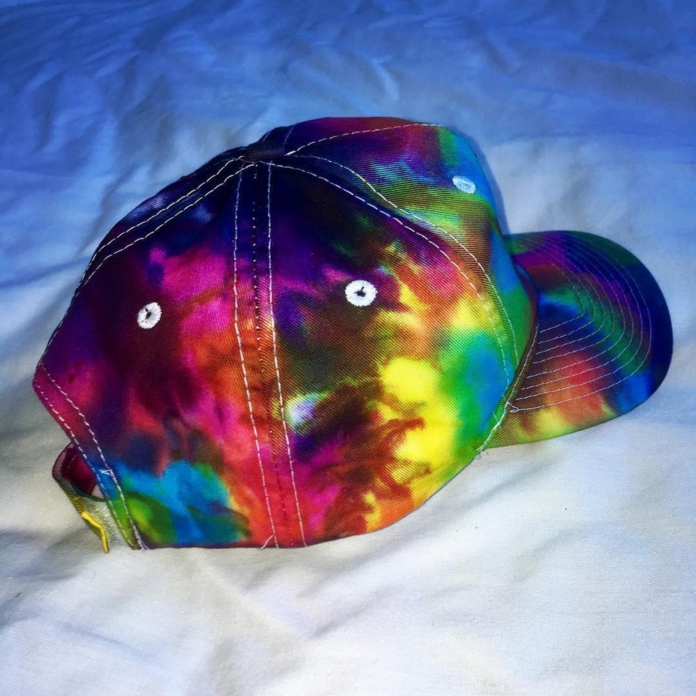 Image of Wolf Custom Embroidered Tie Dyed Hat!!! 👉 Pre-Sale!!!