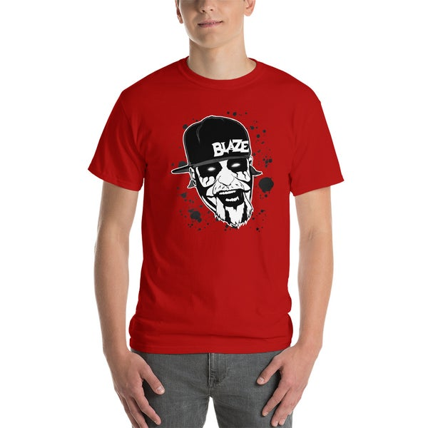 Image of Blaze Splatter Face Shirt Red
