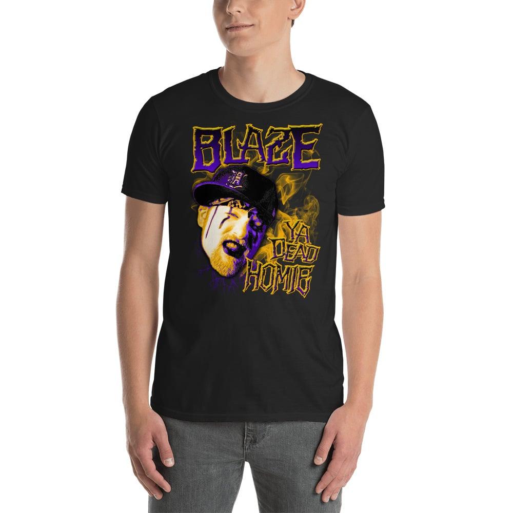Image of Blaze Purple and Gold Smoke Shirt