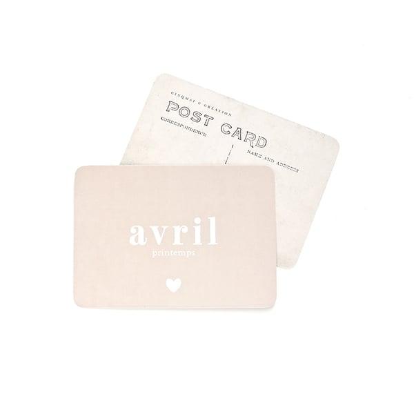 Image of Carte Postale AVRIL