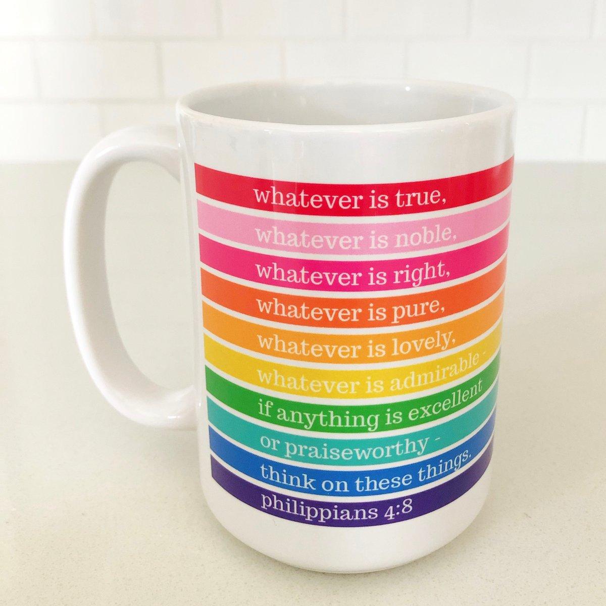 Image of Whatever is... Rainbow Mug