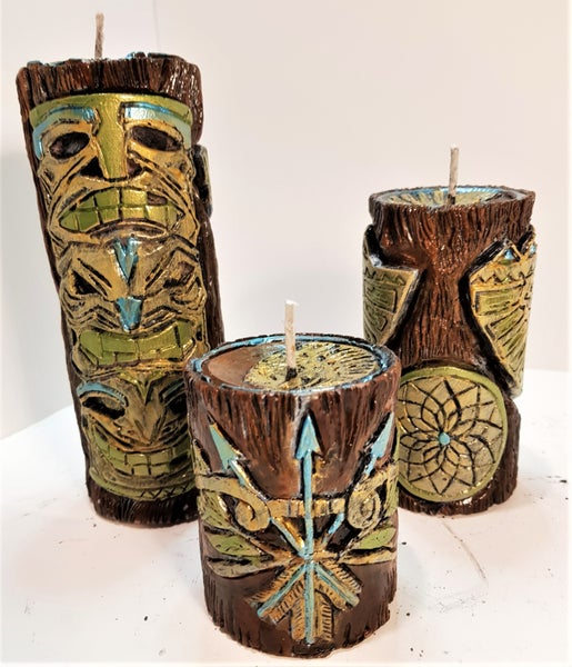 Image of NATIVE AMERICAN CANDLE SET