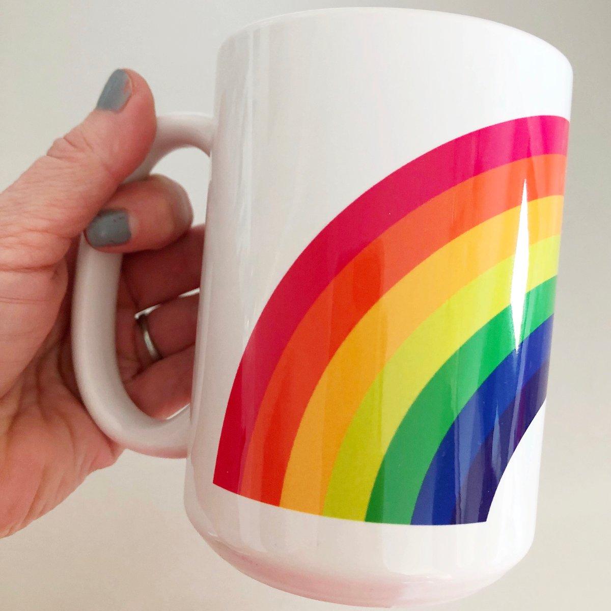 Image of Red Rainbow Mug