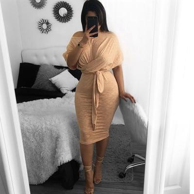 Image of Twist bow tie dress