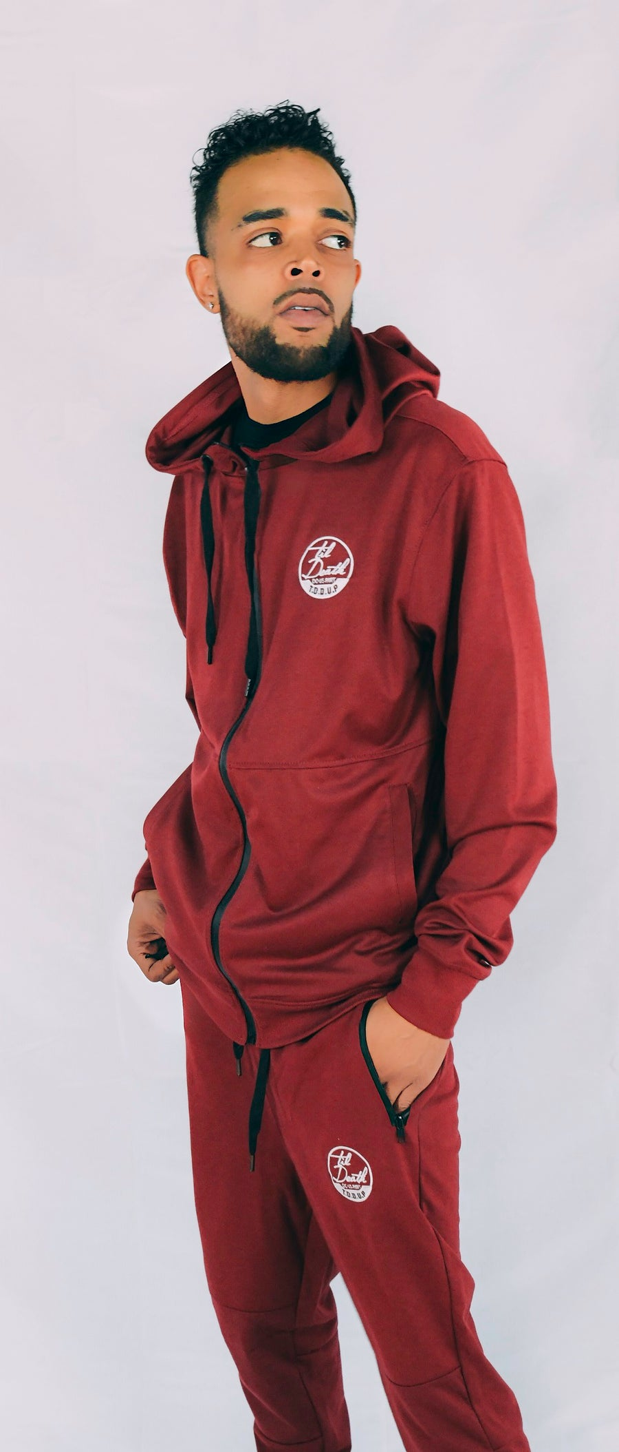 Image of Til Death  Tech Fleece (Burgundy)