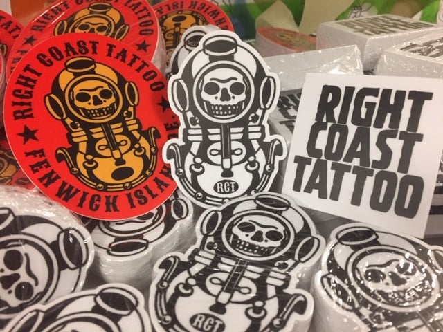 Image of Right Coast Tattoo Sticker Pack