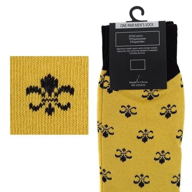 Fleur De Lis Novelty Socks