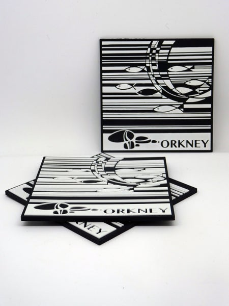 Image of Soft PVC Orkney fish coaster