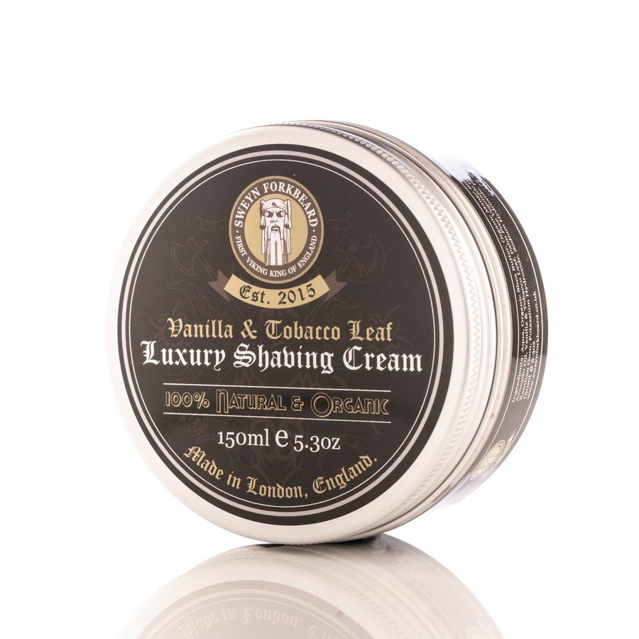 Image of Luxury Shaving Cream Vanilla & Tobacco Leaf
