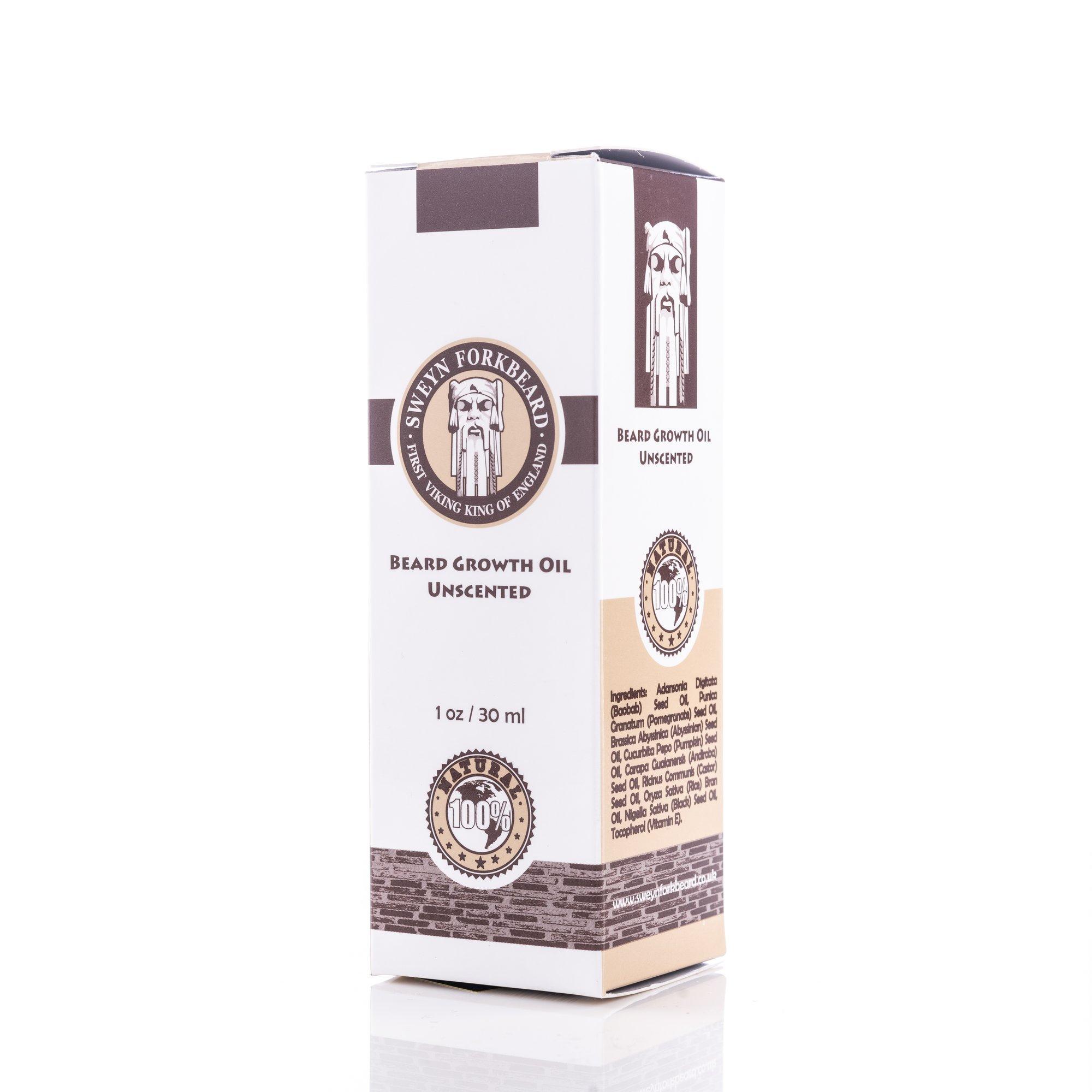 Sweyn Forkbeard Beard Growth Oil Unscented 30ml 1oz
