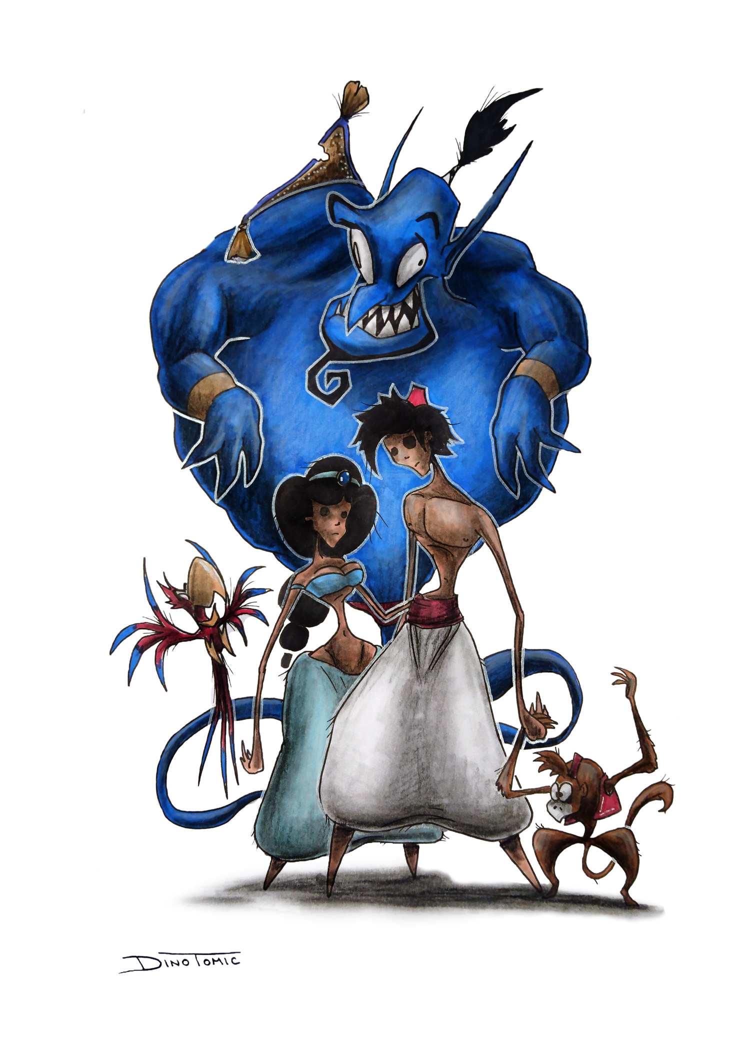 Image of #6 Aladdin Creepyfied
