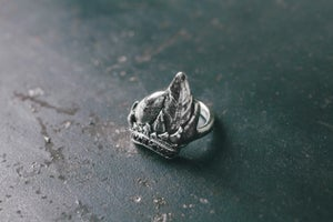Image of Small Lanperna ring with black spinels