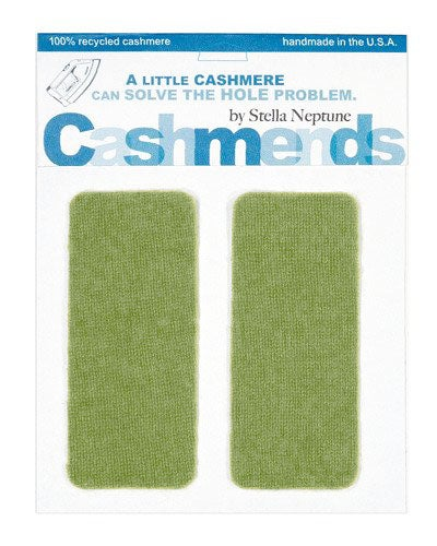 Image of Iron-On Cashmere Elbow Patches -Light Olive - Limited Edition!
