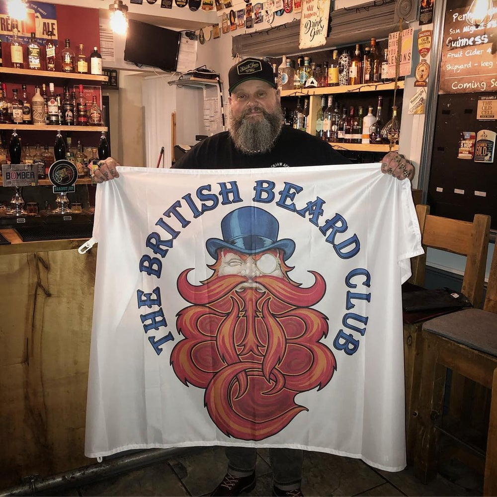 Image of The British Beard Club Flag