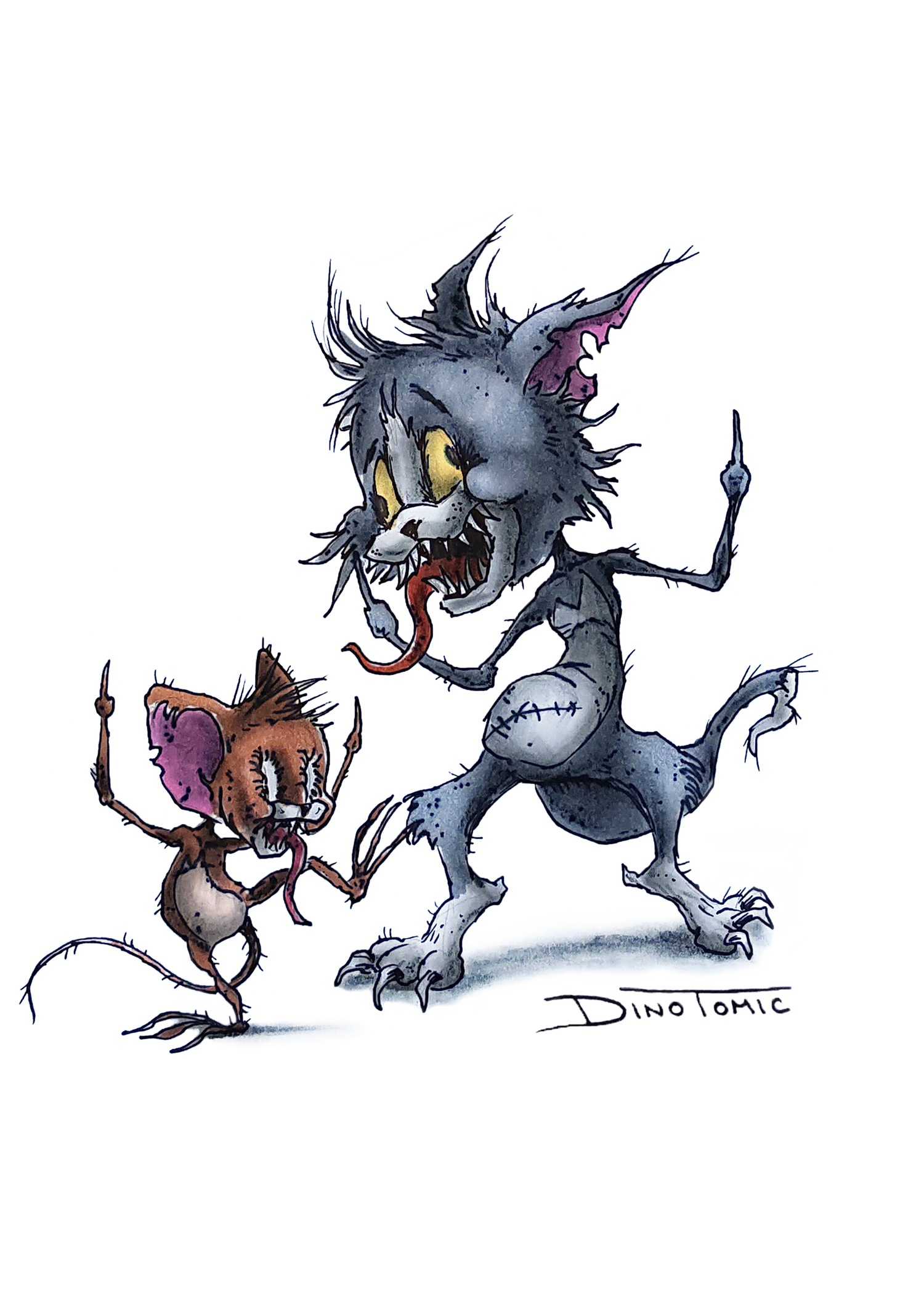 Image of #29 Tom and Jerry Creepyfied