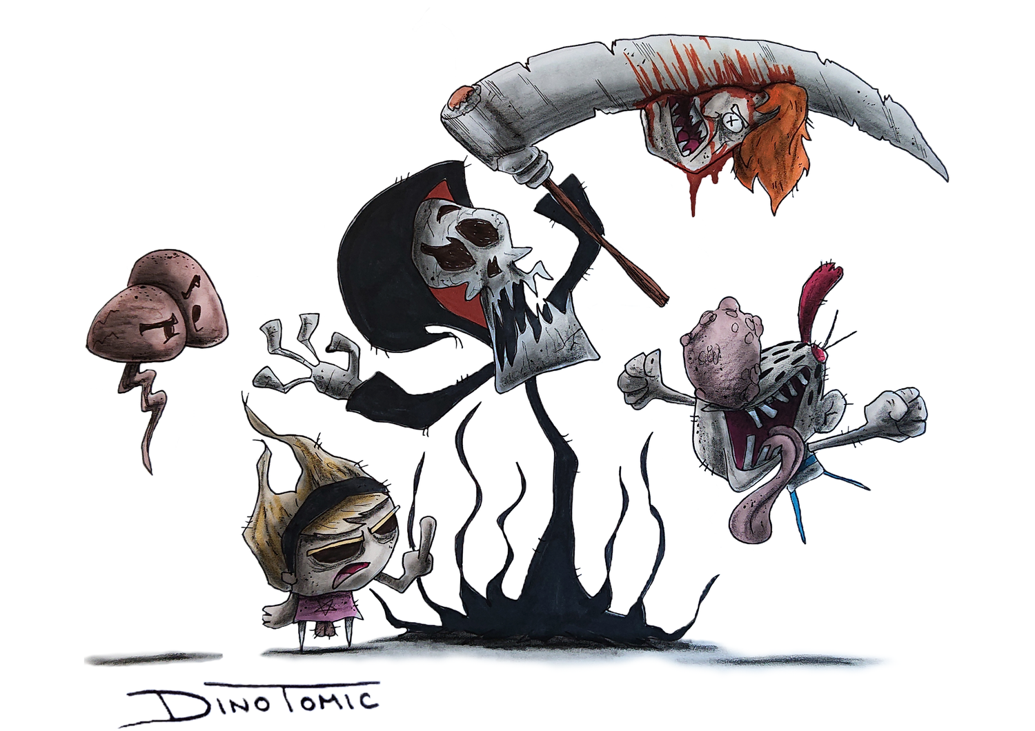 Image of #32 The Grim Adventures of Billy & Mandy Creepyfied