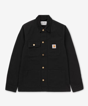 Image of CARHARTT WIP_MICHIGAN CHORE COAT (ORGANIC COTTON) :::BLACK RINSED:::