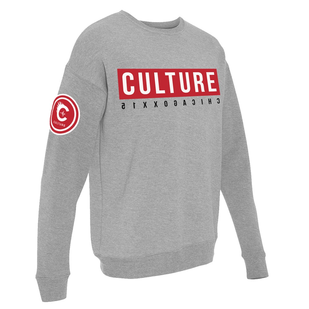 Image of CULTUREFLEE '19 Crewneck Sweater - GREY