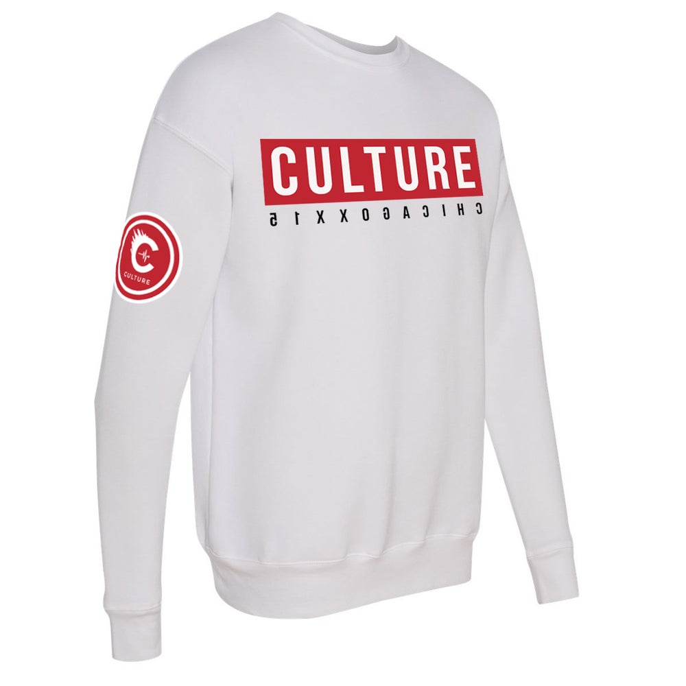 Image of CULTUREFLEE '19 Crewneck Sweater - WHITE