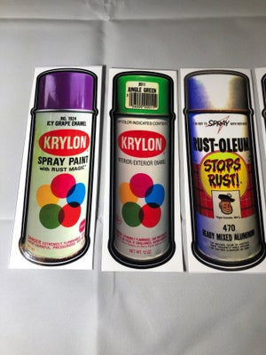 Vintage Paint Stickers