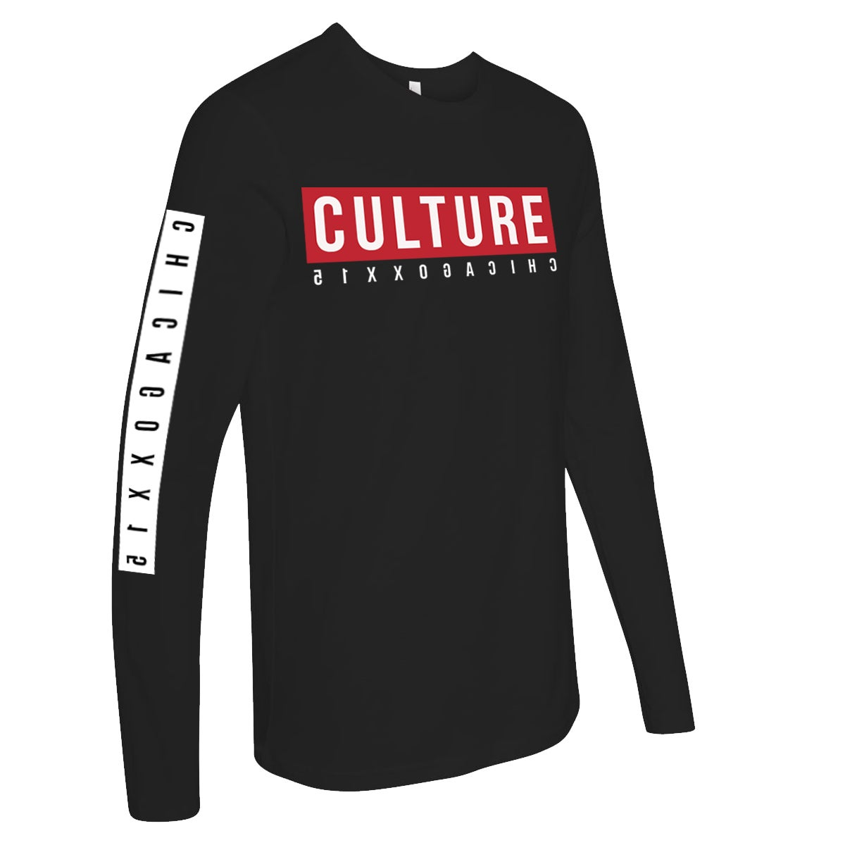 Image of CULTUREFLEE LS Tee - Black