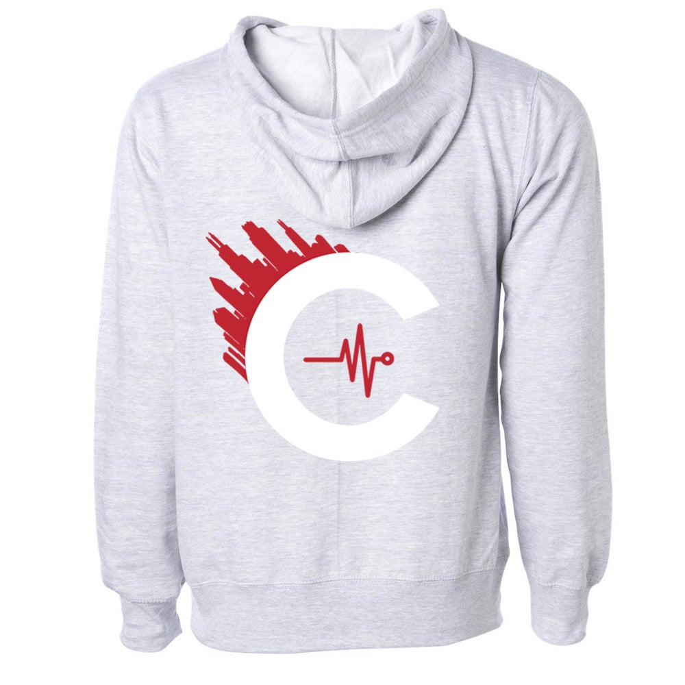 "Image of CULTUREFLEE '19 MYHoodie - Grey W/ WHITE ""C"""