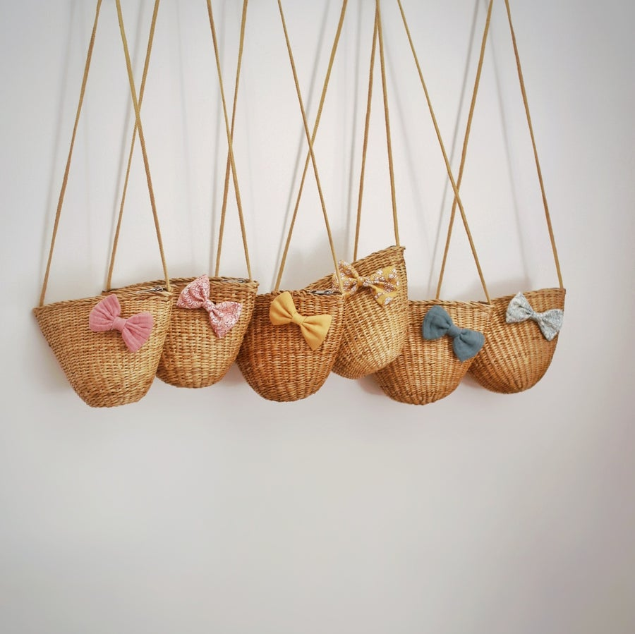 Image of Woven Bow Bags - Pastels