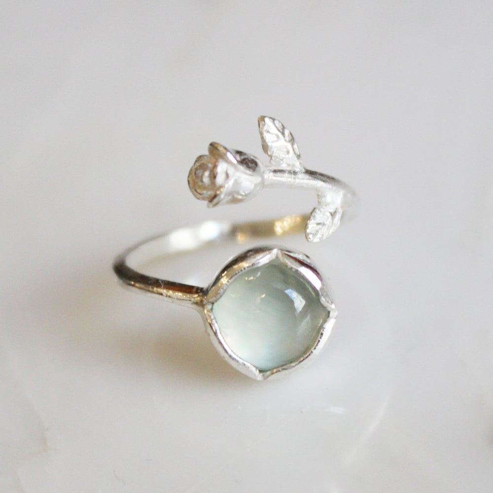 Image of  Aqua Rose x Aqua Chalcedony ring
