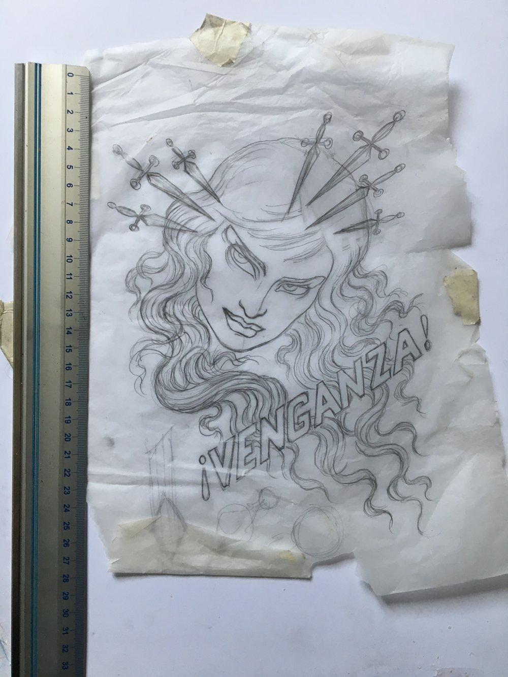 Image of Venganza sketch