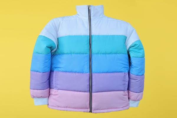 Image of Pastel Puffer Jacket Preorder