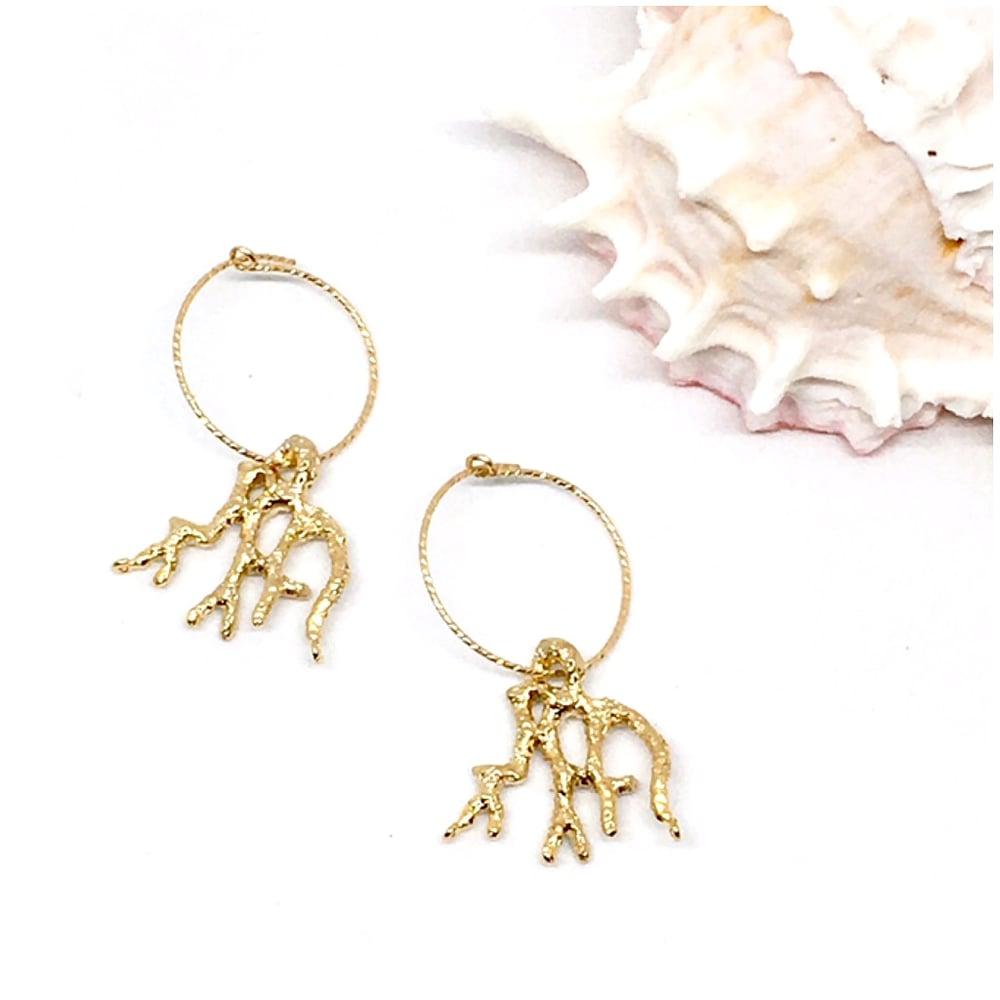Image of RUPPIONE hoop earrings