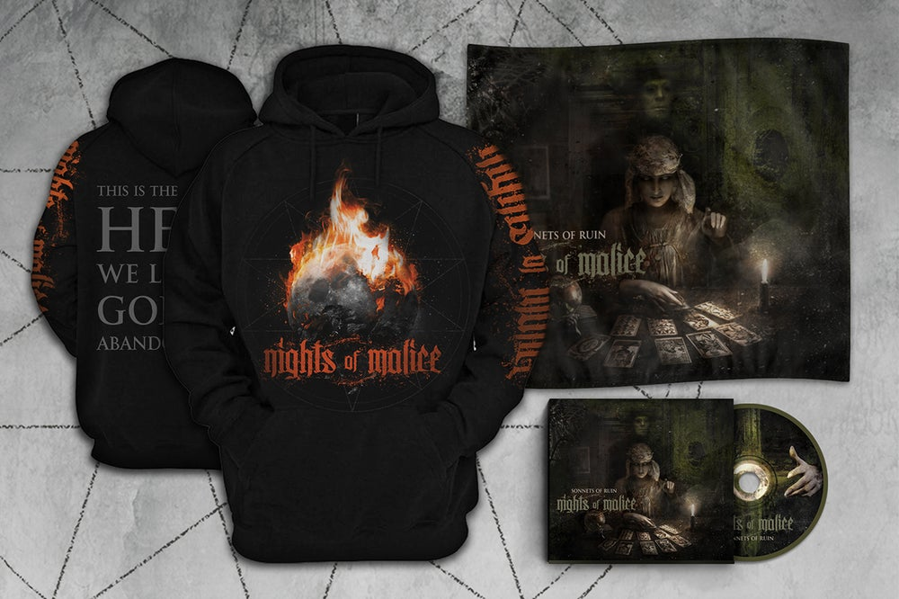 "Image of CD + ""God has abandoned us"" Hoodie + Wall Flag Bundle"