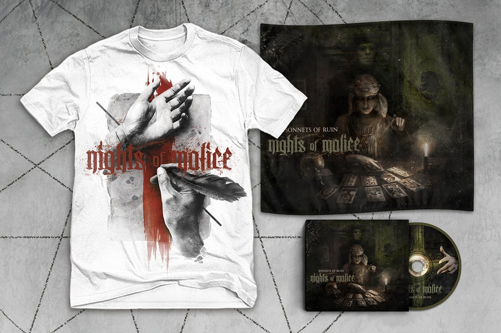 "Image of CD + Wall Flag + ""Death Letter"" T shirt Bundle"