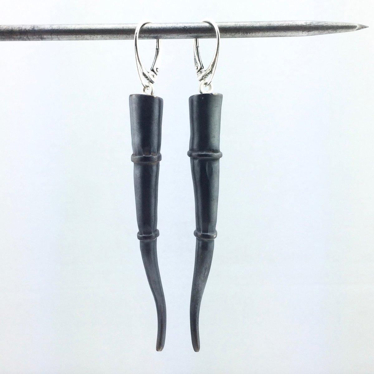 Image of Tendril Earrings, Black #1