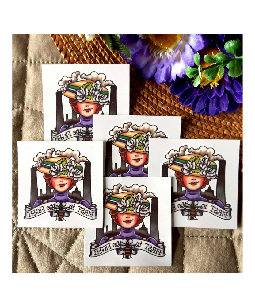 Image of Manchester Suffragette Temporary Tattoos