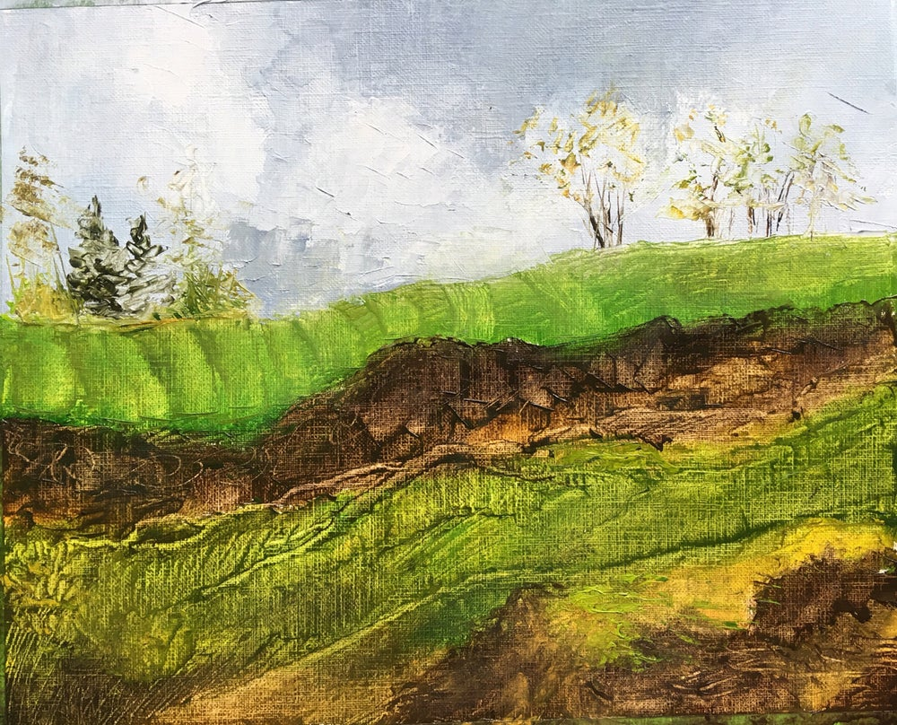 Image of Oil on Paper SPRING Hurley Field New York