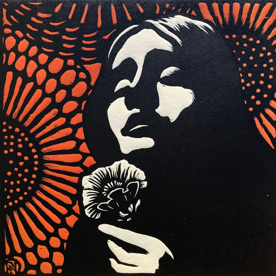 Image of Eurydice, 2nd limited edition woodcut print.